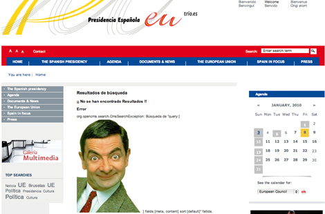 Mr Bean as Spanish PM
