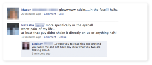 Glow Sticks, Sperm Face - Facebook Blooper